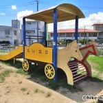 【公園】沖縄市美東公園_馬がチャームポイントの遊具