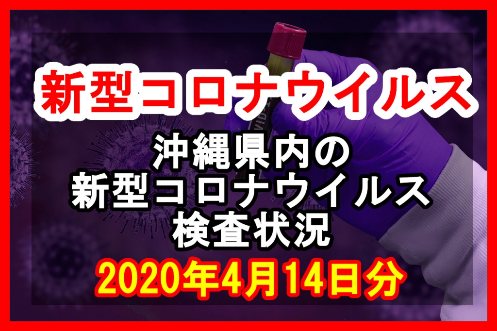 【2020年4月14日分】沖縄県内で実施されている新型コロナウイルスの検査状況について