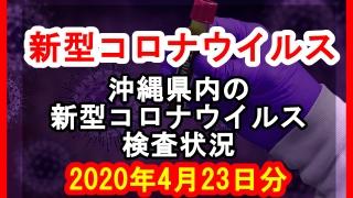 【2020年4月23日分】沖縄県内で実施されている新型コロナウイルスの検査状況について