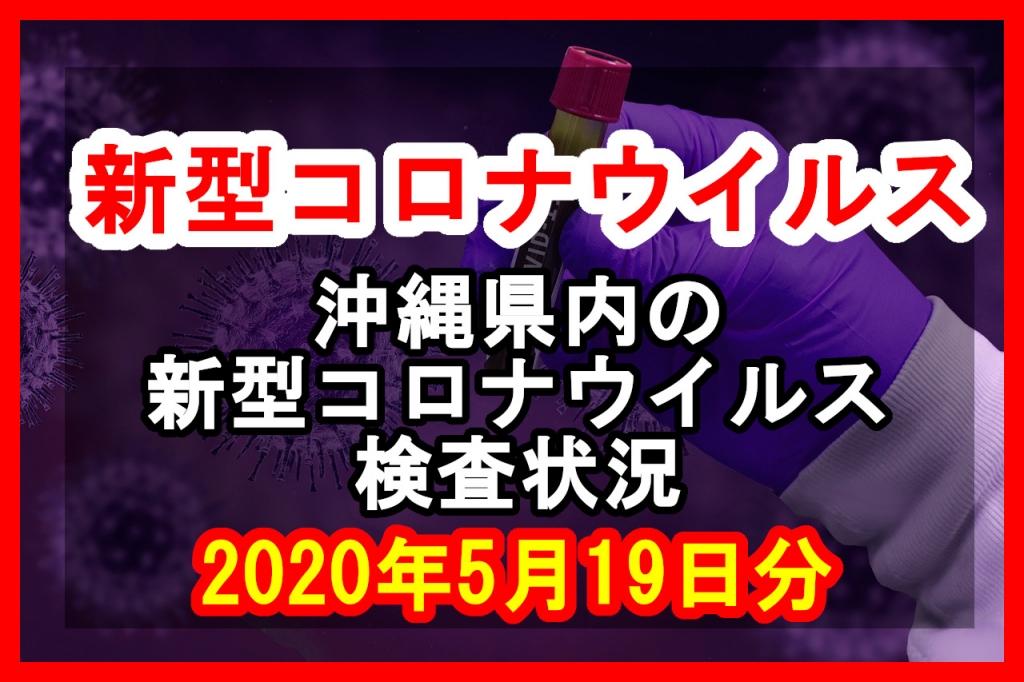 【2020年5月19日分】沖縄県内で実施されている新型コロナウイルスの検査状況について