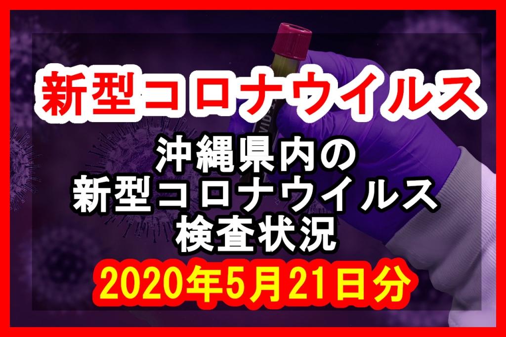 【2020年5月21日分】沖縄県内で実施されている新型コロナウイルスの検査状況について