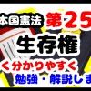 日本国憲法第25条「生存権」について勉強・解説します!【分かりやすく勉強】
