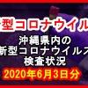 【2020年6月3日分】沖縄県内で実施されている新型コロナウイルスの検査状況について
