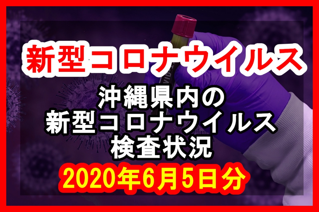 【2020年6月5日分】沖縄県内で実施されている新型コロナウイルスの検査状況について
