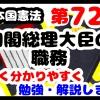 日本国憲法第72条「内閣総理大臣の職務」について勉強・解説します!【分かりやすく勉強】