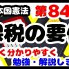 日本国憲法第84条「課税の要件」について勉強・解説します!【分かりやすく勉強】