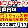 【2020年7月17日】沖縄県内の米軍基地内における新型コロナウイルス感染状況と基地従業員検査状況