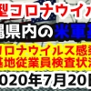 【2020年7月20日】沖縄県内の米軍基地内における新型コロナウイルス感染状況と基地従業員検査状況