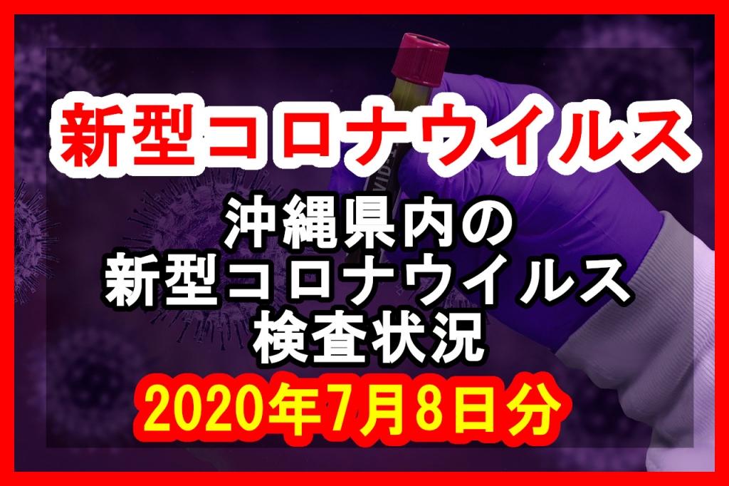 【2020年7月8日分】沖縄県内で実施されている新型コロナウイルスの検査状況について