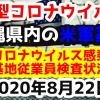 【2020年8月22日】沖縄県内の米軍基地内における新型コロナウイルス感染状況と基地従業員検査状況
