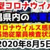【2020年8月5日】沖縄県内の米軍基地内における新型コロナウイルス感染状況と基地従業員検査状況