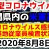 【2020年8月8日】沖縄県内の米軍基地内における新型コロナウイルス感染状況と基地従業員検査状況