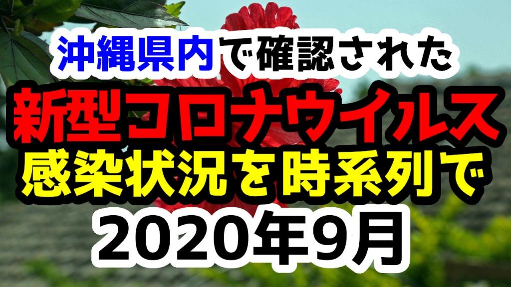 【2020年9月】沖縄県内で確認された新型コロナウイルスの感染状況について経緯を時系列にまとめてみた※随時更新
