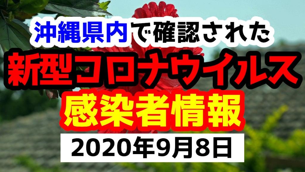 2020年9月8日に発表された沖縄県内で確認された新型コロナウイルス感染者情報一覧
