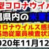【2020年11月12日】沖縄県内の米軍基地内における新型コロナウイルス感染状況と基地従業員検査状況