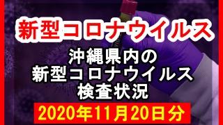 【2020年11月20日分】沖縄県内で実施されている新型コロナウイルスの検査状況について