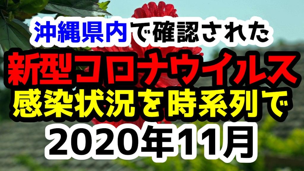 沖縄県内で確認された新型コロナウイルスの感染状況について経緯を時系列にまとめてみた※随時更新11月