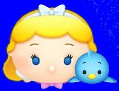 【ツムツム】2021年1月新ツム_シンデレラ&青い鳥1
