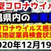 【2020年12月19日】沖縄県内の米軍基地内における新型コロナウイルス感染状況と基地従業員検査状況