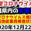 【2020年12月22日】沖縄県内の米軍基地内における新型コロナウイルス感染状況と基地従業員検査状況
