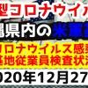 【2020年12月27日】沖縄県内の米軍基地内における新型コロナウイルス感染状況と基地従業員検査状況