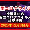 【2020年12月3日分】沖縄県内で実施されている新型コロナウイルスの検査状況について