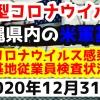 【2020年12月31日】沖縄県内の米軍基地内における新型コロナウイルス感染状況と基地従業員検査状況
