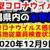 【2020年12月9日】沖縄県内の米軍基地内における新型コロナウイルス感染状況と基地従業員検査状況