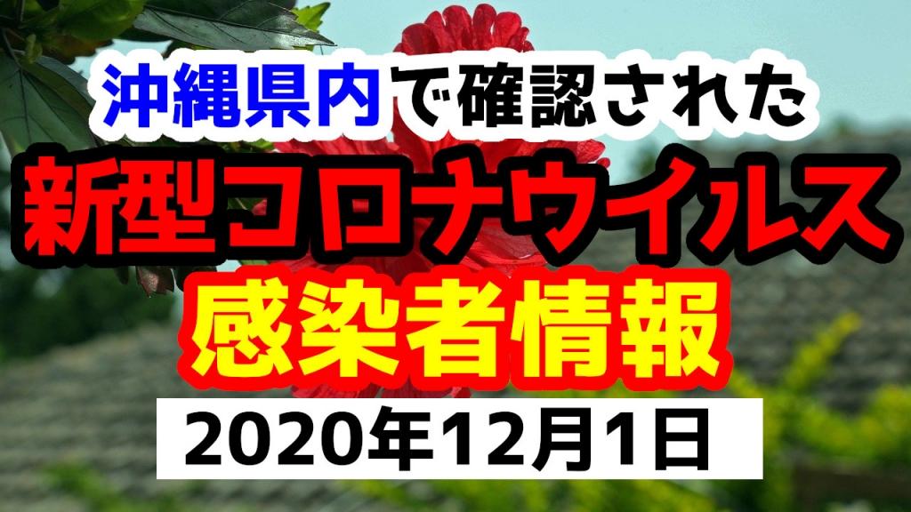 2020年12月1日に発表された沖縄県内で確認された新型コロナウイルス感染者情報一覧