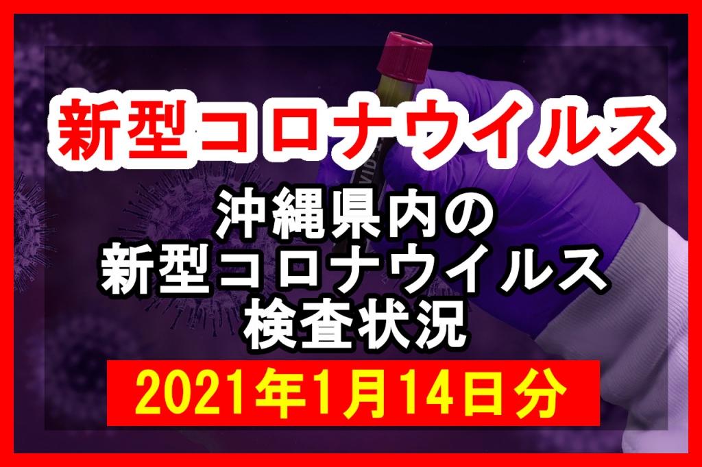 【2021年1月14日分】沖縄県内で実施されている新型コロナウイルスの検査状況について