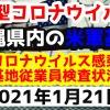 【2021年1月21日】沖縄県内の米軍基地内における新型コロナウイルス感染状況と基地従業員検査状況