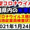 【2021年1月24日】沖縄県内の米軍基地内における新型コロナウイルス感染状況と基地従業員検査状況