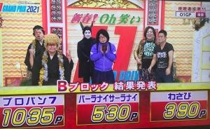 優勝はリップサービス!「新春!Oh笑いO-1グランプリ2021」【沖縄のお笑い大会】_Bブロック結果