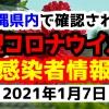 2021年1月7日に発表された沖縄県内で確認された新型コロナウイルス感染者情報一覧