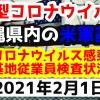 【2021年2月1日】沖縄県内の米軍基地内における新型コロナウイルス感染状況と基地従業員検査状況
