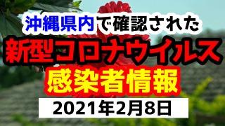 2021年2月8日に発表された沖縄県内で確認された新型コロナウイルス感染者情報一覧