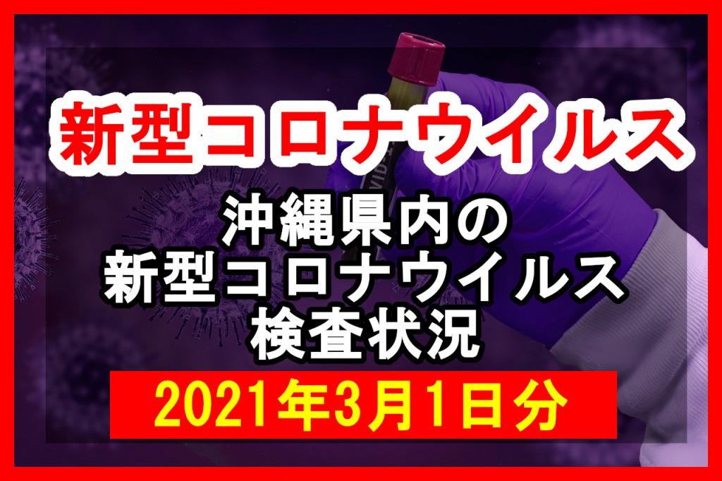 【2021年3月1日分】沖縄県内で実施されている新型コロナウイルスの検査状況について