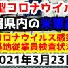 【2021年3月23日】沖縄県内の米軍基地内における新型コロナウイルス感染状況と基地従業員検査状況