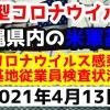 【2021年4月13日】沖縄県内の米軍基地内における新型コロナウイルス感染状況と基地従業員検査状況
