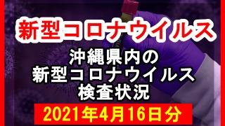 【2021年4月16日分】沖縄県内で実施されている新型コロナウイルスの検査状況について