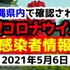2021年5月6日に発表された沖縄県内で確認された新型コロナウイルス感染者情報一覧