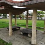 【2021年】連結型の巨大遊具が楽しすぎる!沖縄市の黒潮公園は広場と巨大遊具が魅力的な公園です!_休憩所3