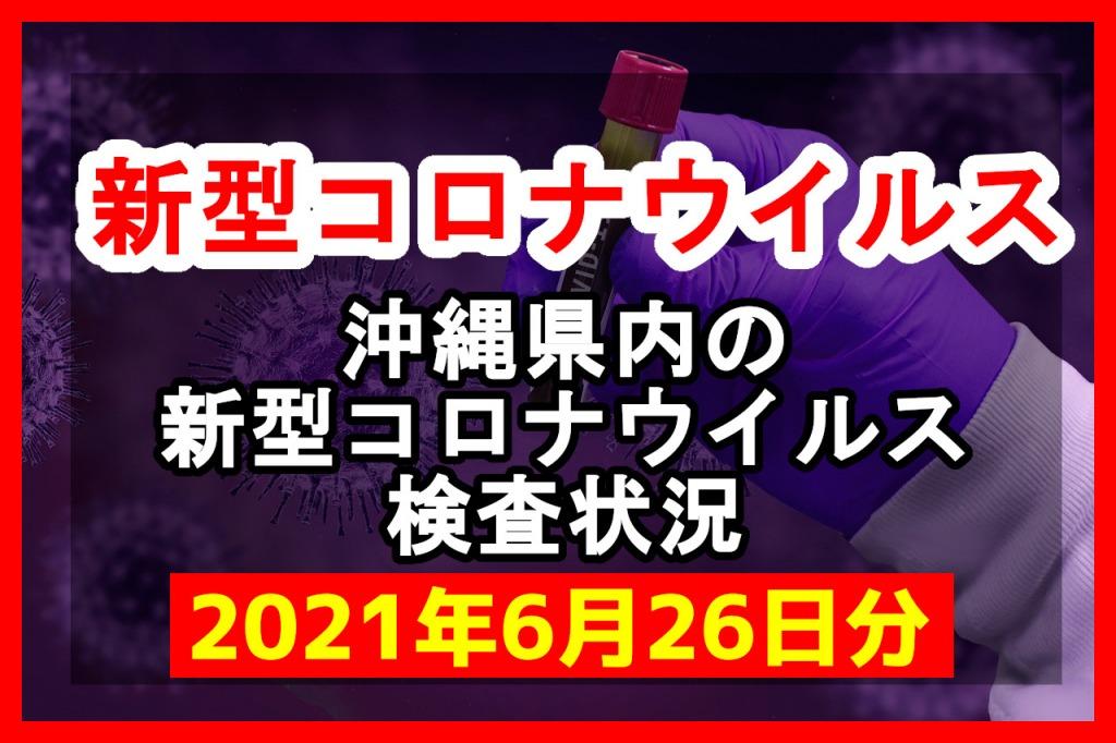 【2021年6月26日分】沖縄県内で実施されている新型コロナウイルスの検査状況について