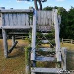 【2021年】パンダの絵が書かれているコンクリート巨大滑り台が特徴!うるま市の宇堅児童公園に遊びに行ってみた!_ローラー型の長めの滑り台