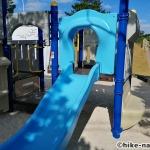 【2021年】パンダの絵が書かれているコンクリート巨大滑り台が特徴!うるま市の宇堅児童公園に遊びに行ってみた!_小さい子が遊べるアトラクション型遊具2