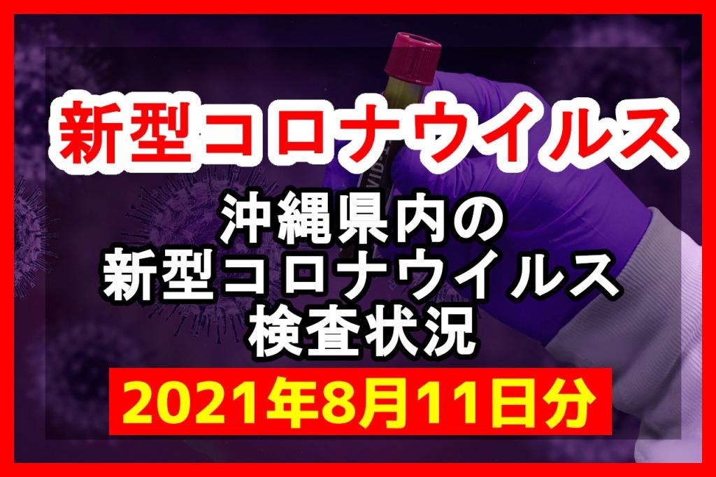 【2021年8月11日分】沖縄県内で実施されている新型コロナウイルスの検査状況について