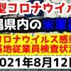 【2021年8月12日】沖縄県内の米軍基地内における新型コロナウイルス感染状況と基地従業員検査状況