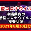 【2021年8月30日分】沖縄県内で実施されている新型コロナウイルスの検査状況について