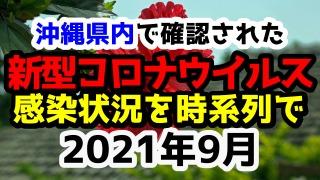 【2021年9月】沖縄県内で確認された新型コロナウイルスの感染状況について経緯を時系列にまとめてみた※随時更新