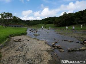 うるま市の倉敷ダム「やんばるの森(ヤンバルムイ)」水遊び体験をご紹介します!_もう少し放水量が多ければ左側にも水がいくかもしれませんね
